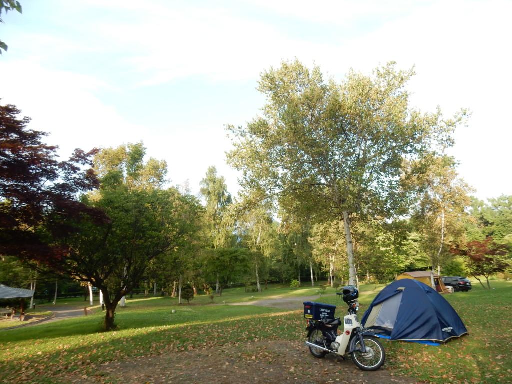 洞爺湖周辺のキャンプツーリング